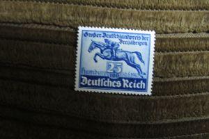 Briefmarken Deutsches Reich 1940: Deutschland-Preis Blaues Band 25+100 Pf. postfrisch
