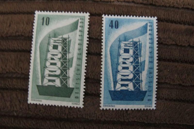 Briefmarken BRD 1956 Europa-Marken - Satz 2 Werte postfrisch komplett 0