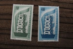 Briefmarken BRD 1956 Europa-Marken - Satz 2 Werte postfrisch komplett