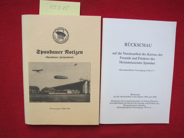 """Spandauer Notizen : """"Spandauer Heimatbrief"""" - Jahresgabe 1988/1989. EUR"""