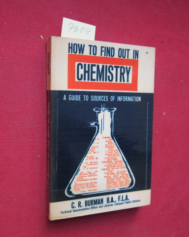 How to find out in Chemistry - A Guide to Sources of Information. EUR