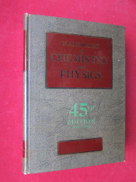 Handbook of Chemistry and Physics. A Ready-Reference Book of Chemical and Physical Data. EUR