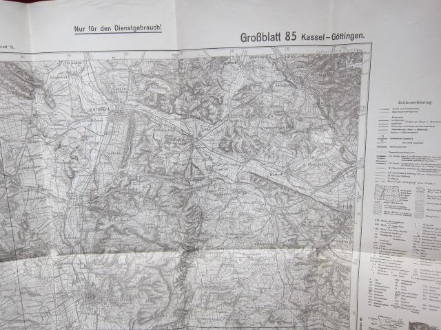 Kassel - Göttingen : Großblatt 85 [Karte des Deutschen Reiches <1:100000>] EUR