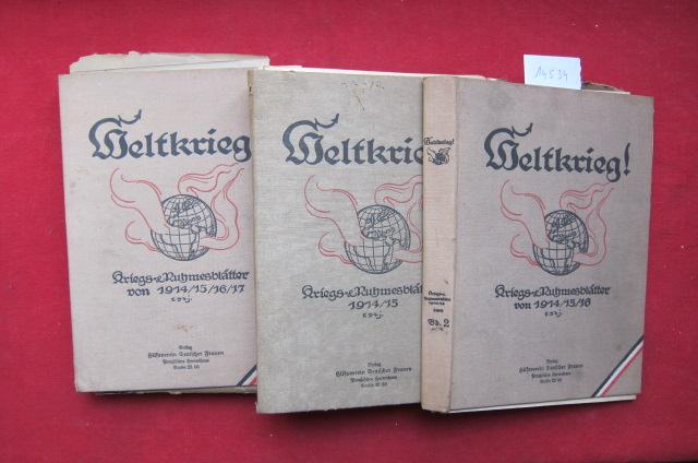 Weltkrieg! Kriegs- & Ruhmesblätter 1914 - 1918 (190 von 224 Blättern). EUR