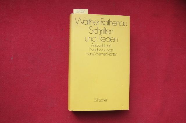 Schriften und Reden Auswahl und Nachwort v. Hans Werner Richter. EUR