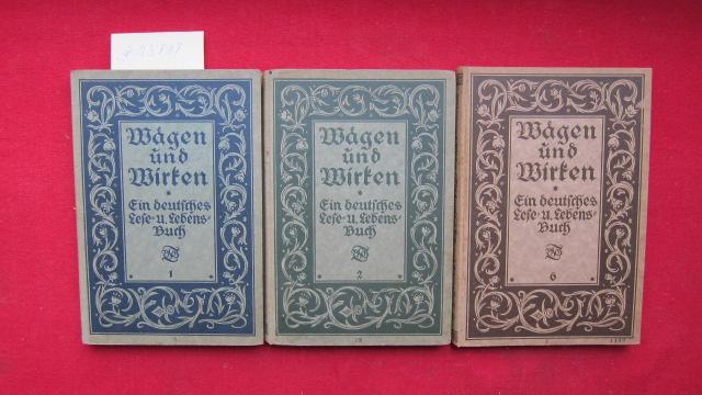 Konvolut aus 3 Bänden: I. Teil / II. Teil / VI. Teil. EUR