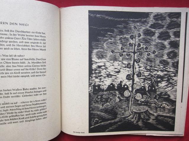 Höret, ihr Himmel! Und Erde nimm zu Ohren!. 10 Holzschnitte von Wilhelm Groß zu Worten des Propheten Jesaia. [Zusammenstellung d. Texte: Ernst-Emil Fisch, Hanns Meinhard.] EUR