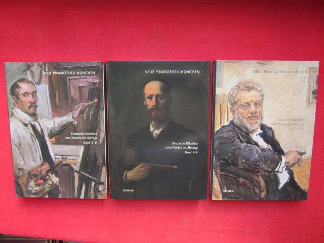 Deutsche Künstler von Marées bis Slevogt. 3 Bände (komplett) Bayerische Staatsgemäldesammlungen: Gemäldekataloge ; Bd. VIII, 1-3. Band 1: Adam - Hummel / Band 2: Jank - Runze / Band 3: Sailer - Zumbusch. EUR