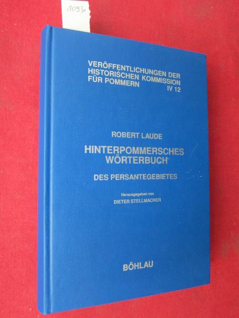 Hinterpommersches Wörterbuch des Persantegebietes. EUR