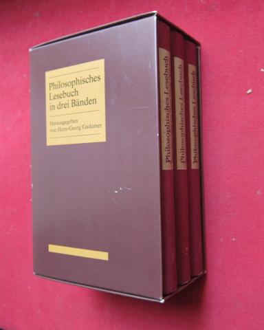 Philosophisches Lesebuch in drei Bänden : Herausgegeben und mit Einführungen versehen von Hans-Georg Gadamer. EUR