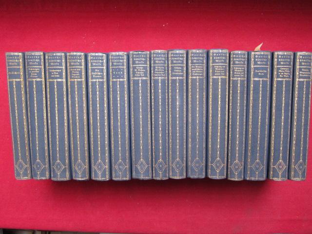 Goethes sämtliche Werke in 15 Bänden (komplett). Tempel-Klassiker. EUR