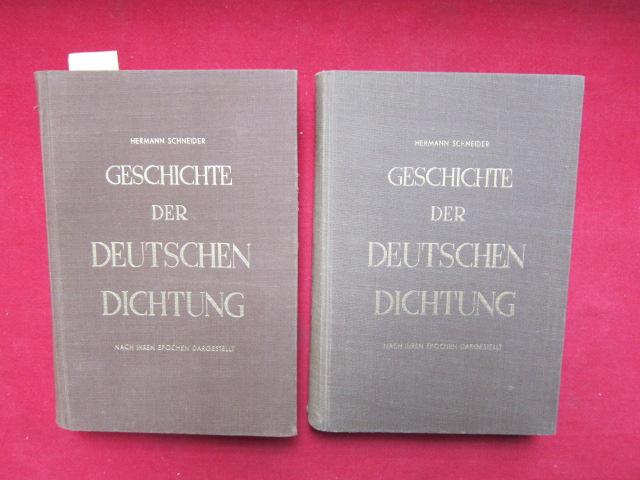Geschichte der Deutschen Dichtung - Nach ihren Epochen dargestellt. Band 1 und 2. EUR