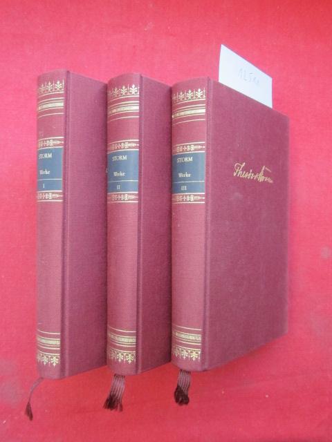 Sämtliche Werke in drei Bänden. Bibliothek der Weltliteratur. Deutsche Klassiker. EUR