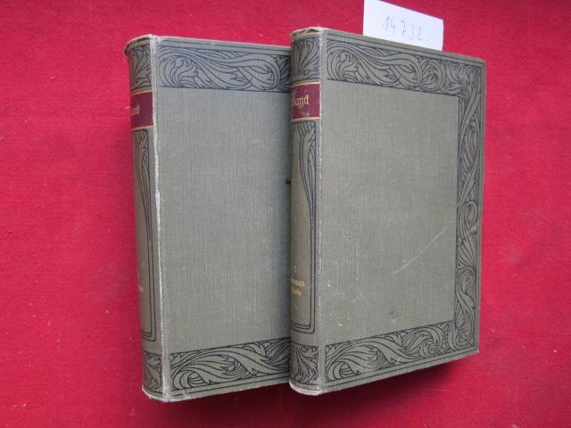 Uhlands Werke. 2 Bände (komplett). Band 1: Gedichte. Band 2: Dramen, Prosa. Meyers Klassiker-Ausgaben, hrsg. v. Prof.Dr. Ernst Elster. EUR