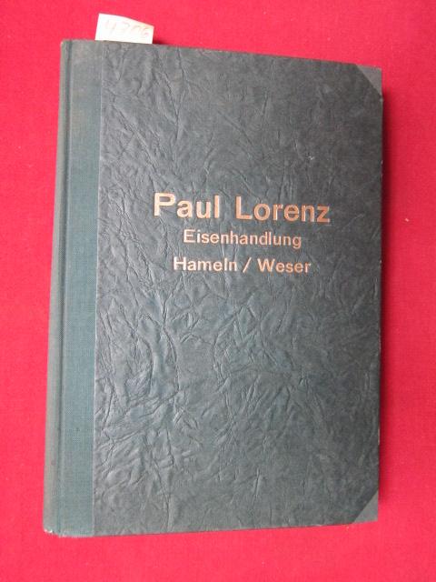 Paul Lorenz Eisenhandlung Hameln/Weser. EUR