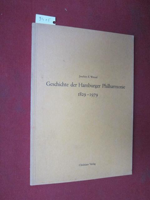Geschichte der Hamburger Philharmonie 1829-1979. EUR