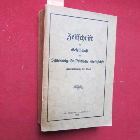 Zeitschrift der Gesellschaft für Schleswig-Holsteinische Geschichte - 59.Band. EUR