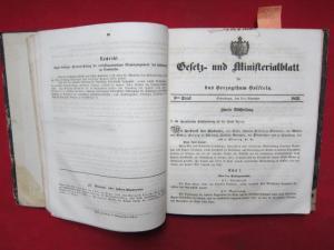 Gesetz- und Ministerialblatt für das Herzogthum Holstein. EUR
