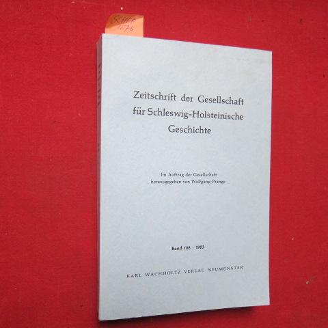 Zeitschrift der Gesellschaft für Schleswig - Holsteinische Geschichte - 108. Band. EUR