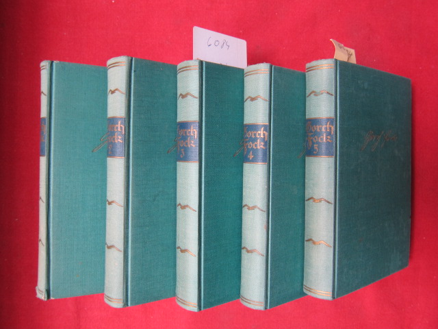 Gorch Fock - Band 1 - 5. Sämtliche Werke in fünf Bänden. [Johann Wilhelm Kinau (1880 - 1916), Pseudonym: Gorch Fock, Jakob Holst.] EUR