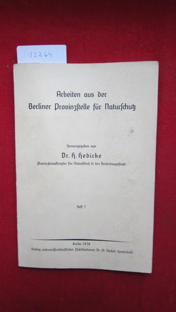 Arbeiten aus der der Berliner Provinzstelle für Naturschutz. EUR
