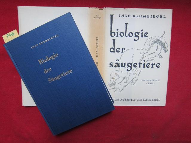 Biologie der Säugetiere. Ein Handbuch. Band 2. EUR