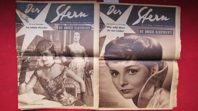Der Stern - Die grosse Illustrierte : Heft 43 und 46/ 1954 - 7. Jahrgang : Heft 43 vom 24.10.1954 ; Heft 46 vom 14.11.1954 ; EUR