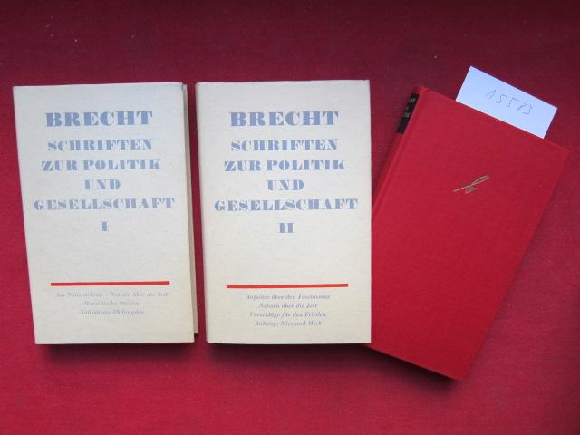 Schriften zur Politik und Gesellschaft : [2 Bände]. [Red.: Werner Hecht] EUR