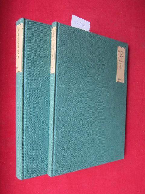 Buchkunst und Literatur in Deutschland 1750 und 1850 : Band 1 und 2. Bd. 1: Texte. Bd. 2: Abbildungen. EUR
