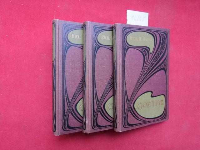 Goethe. Preisgekrönte Arbeit. 3 Bände (komplett). Geisteshelden (Führende Geister). Eine Sammlung von Biographien. EUR