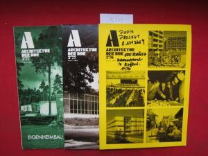 Konvolut aus 3 Heften: Architektur der DDR Hefte 3/76, 2/77 und 3/77. EUR