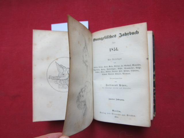 Evangelisches Jahrbuch für 1850. Evangelisches Jahrbuch für 1851. (2 in 1 Band) [Evangelischer Kalender. Jahrbuch für 1850 bzw. 1851] EUR