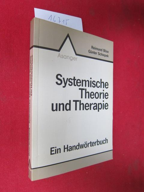 Systemische Theorie und Therapie : ein Handwörterbuch. EUR