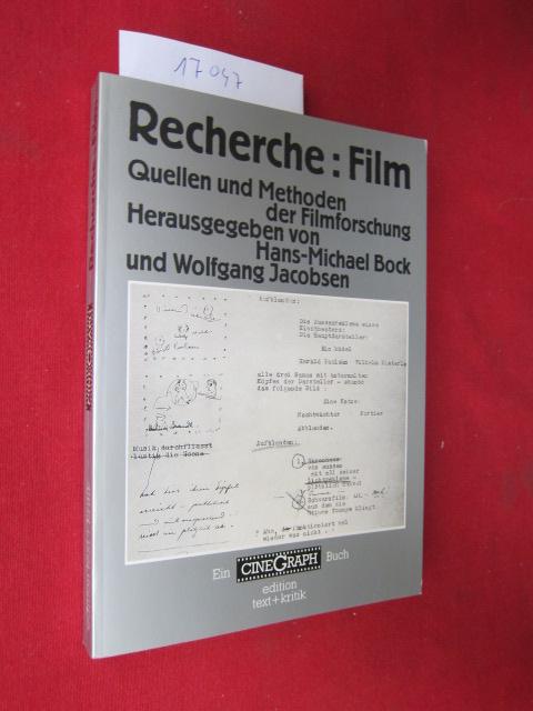 Recherche: Film : Quellen und Methoden der Filmforschung. hrsg. von Hans-Michael Bock und Wolfgang Jacobsen EUR