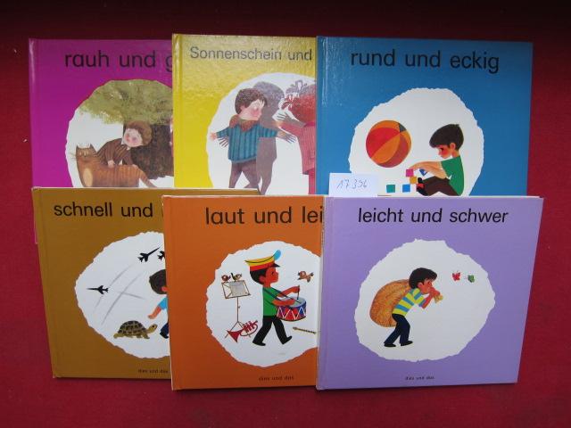 Konvolut aus 6 Büchern der Reihe: 1) leicht und schwer. / 2) laut und leise. / 3) schnell und langsam. / 4) rund und eckig. / 5) Sonnenschein und Schatten. / 6) rauh und glatt. dies und das - Sachbuchreihe für Kinder. EUR
