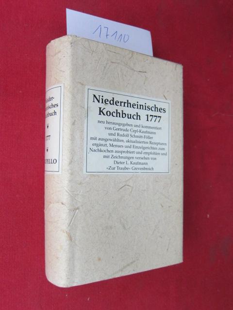 Niederrheinisches Kochbuch 1771; Bd. 1. EUR
