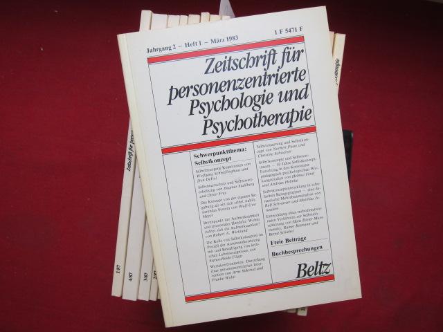Zeitschrift für personenzentrierte Psychologie und Psychotherapie (ZPP) : Heft 1/1983 - 4/1987 (20 Hefte) EUR