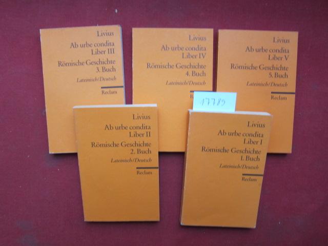 Ab urbe condita; Liber I - V. - Römische Geschichte 1. - 5. Buch. Reclams Universal-Bibliothek ; Nr. 2031-35. Lateinisch/Deutsch. EUR