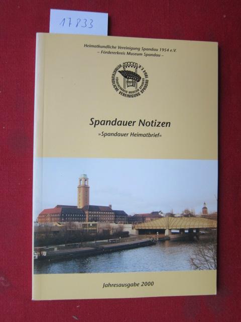 """Spandauer Notizen : """"Spandauer Heimatbrief"""" - Jahresgabe 2000. EUR"""