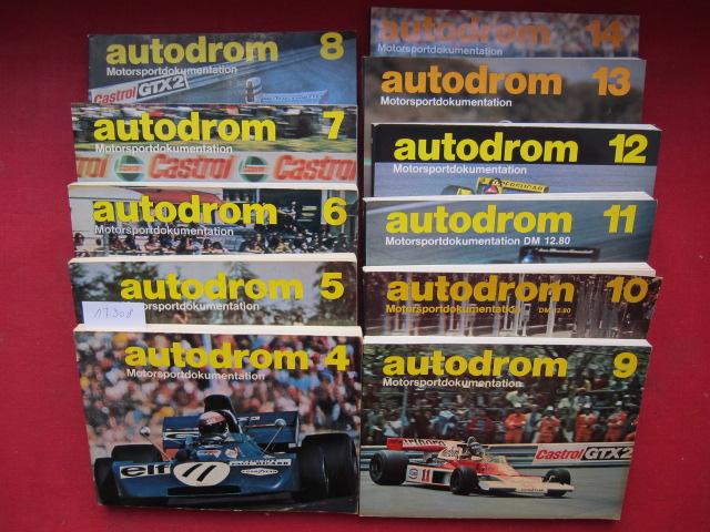 Konvolut aus 11 Bänden: Autodrom 4 - 14 : Motorsportdokumentation. EUR