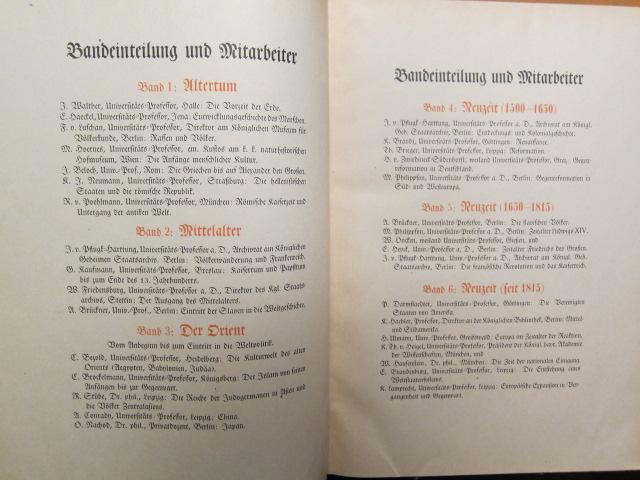 [Ullsteins] Weltgeschichte : Band 1 - 6. Die Entwicklung der Menschheit in Staat und Gesellschaft, in Kultur und Geistesleben. EUR