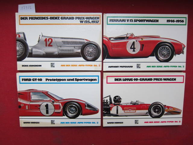 4 Bände der Reihe: 1) Der Mercedes-Benz W 125 / 2) Ferrari V12 / 3) Ford GT40 / 4) Der Lotus 49 . EUR