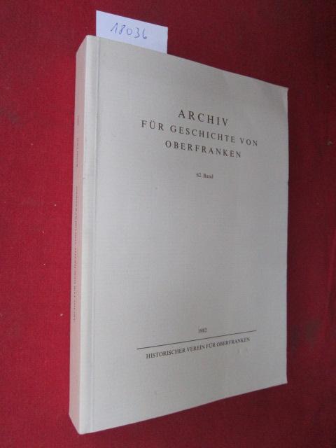 Archiv für Geschichte von Oberfranken; Bd. 62. EUR