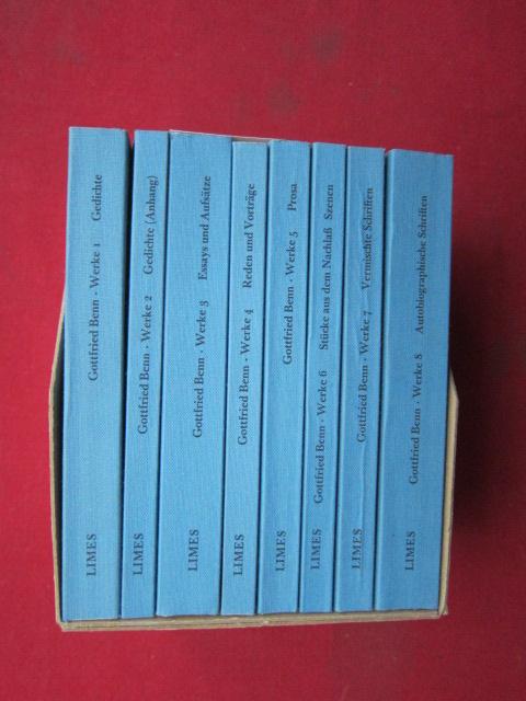 Gesammelte Werke; 8 Bände im Schuber. Bd. 1: Gedichte. Bd. 2: Gedichte. Bd. 3: Essays u. Aufsätze. Bd. 4: Reden u. Vorträge. Bd. 5: Prosa. Bd. 6: Szenen. Bd. 7: Vermischte Schriften. Bd. 8: Autobiogr. Schriften. EUR