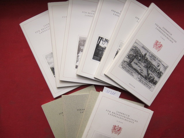 Jahrbuch für Brandenburgische Landesgeschichte : 36. - 45. Band. [10 Bände] EUR