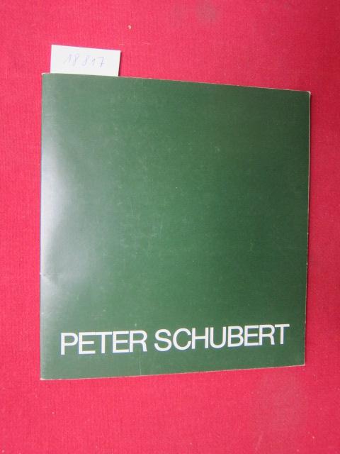 Peter Schubert : Bilder u. Zeichnungen. NBK, Neuer Berliner Kunstverein / Berliner Künstler der Gegenwart H. 31 ; EUR