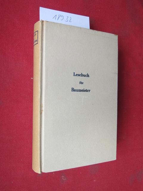 Lesebuch für Baumeister. Das Lesebuch. Eine Sammlung klassischer Lesestücke. EUR