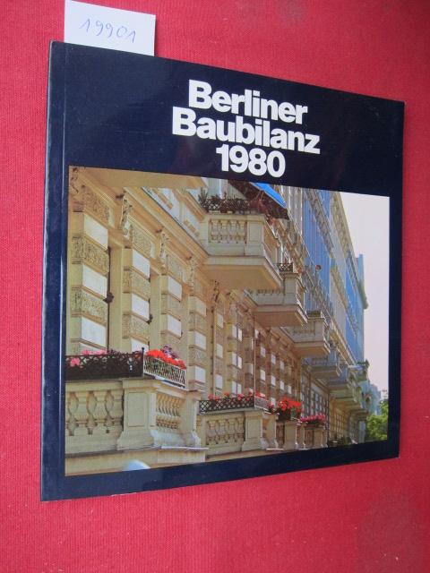 Berliner Baubilanz `80. Vorwort von Harry Ristock. EUR