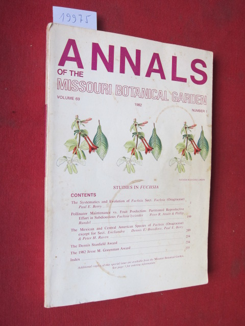 Studies in Fuchsia. Annals of the Missouri Botanical Garden. Vol. 69, no. 1, 1982. EUR
