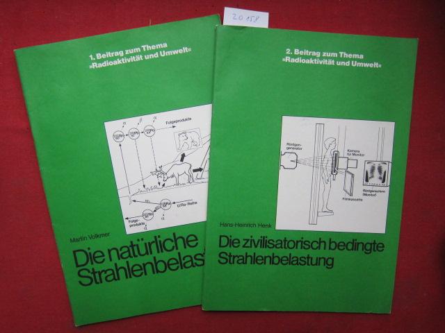 Konvolut: 1) Die natürliche Strahlenbelastung 2) Die zivilisatorisch bedingte Strahlenbelastung. EUR